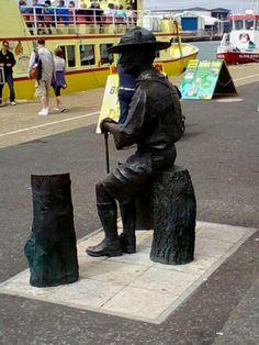 Statue on Poole Quay, Poole.