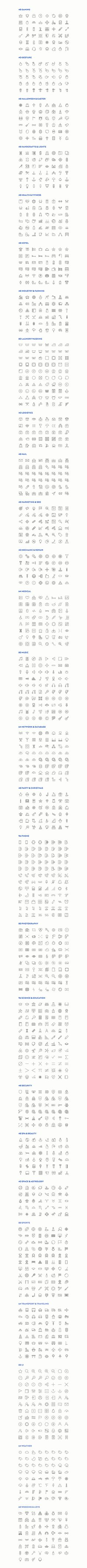 Slimicons - 3300 Line Vector Icons by Dreamstale on @creativemarket