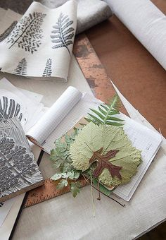 Maker Amelie Mancini collects leaves to inspire her textiles.