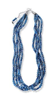 Blue Jeans 4-Strand Lapis Beads  http://www.crowsnesttrading.com