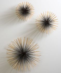 Interior HomeScapes offers the Boom Wall Sculpture by Global Views. Visit our online store to order your Global Views products today. Diy Wand, Metal Walls, Metal Wall Art, Iron Wall, Wall Sculptures, Sculpture Art, Eclectic Sculptures, Ceramic Sculptures, Style Deco