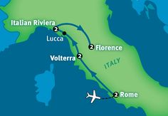 Rick Steve's Detailed Map of Italy Tour (Lucca/Italian Riviera)