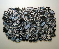 Arte sobre painel de madeira recortado artista: Loro Verz www.lorovez.com #art #loroverz