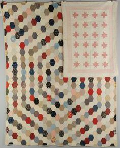 Lot 582: 2 SC Quilts, Hexagonal Block Pattern & Crib