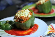 Brunch N' Cupcakes: {Broccoli and Orzo Stuffed Peppers}