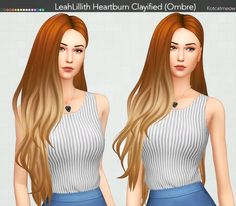 Kot Cat: LeahLillith`s Heartburn Hair Clayified (Ombre) - Sims 4 Hairs - http://sims4hairs.com/kot-cat-leahlilliths-heartburn-hair-clayified-ombre/