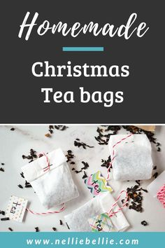 Diy tea bags from coffee filters in only a couple steps. Use this easy to follow tutorial to make homemade tea bags. Video tutorial included! #DIYteabags #Homemade #Tutorial