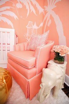The Glam Pad: A Nursery for a Palm Beach Princess