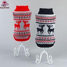 katten / honden Truien Rood / Zwart Hondenkleding Winter Rendier Kerstmis / Nieuwjaar 4517233 2016 – €10.23