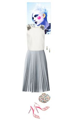 """Untitled #1822"" by wizmurphy ❤ liked on Polyvore featuring Drome, Monique Lhuillier, Sophia Webster, Sparkling Sage, Christian Louboutin, midiskirt and kayliho"