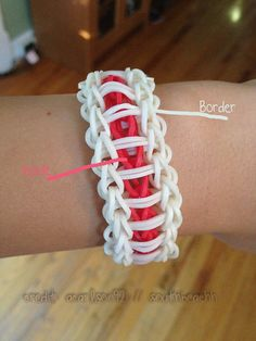 Rainbow Loom Bracelet  Ladder CUSTOM by Southbeachh on Etsy, $4.00