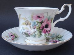 Royal Albert County Life Series HARVEST POPPY Teacup and Saucer
