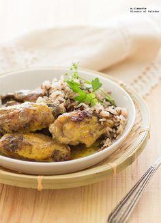 Alitas de pollo al horno con mostaza, especias y finas hierbas. Receta con fotos del paso a paso y sugerencias de presentación. Recetas de carnes...