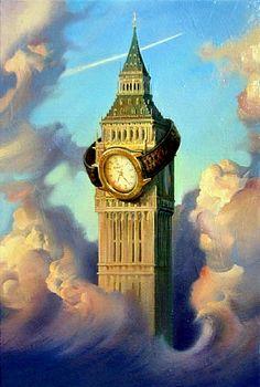 painting by vladimir kush Vladimir Kush, Surrealism Painting, Pop Surrealism, Magritte, Jean Arp, Surreal Artwork, Alberto Giacometti, Art Sculpture, Max Ernst