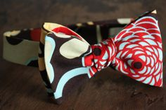 Bow Tie-Brown Floral Pattern