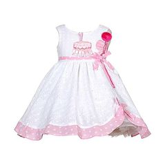 Baby Girls White Pink Balloon 1st Birthday Dress 12M - Brought to you by Avarsha.com