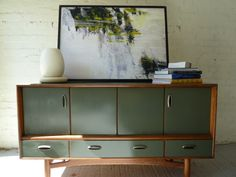 G plan chest with lovely dark green paint