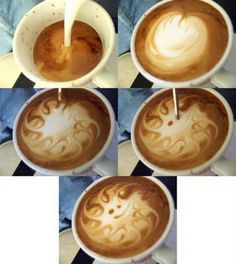 cappuccino art :) this makes me miss working at the cafe!