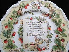 Royal Doulton Brambly Hedge ' Strawberry Shortcake ' Recipe Plate 38A   eBay