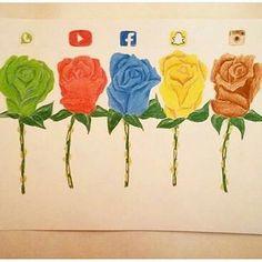 Social Media Drawing Roses
