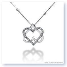 Mark Silverstein Imagines 18K White Gold Double Heart Diamond Pendant