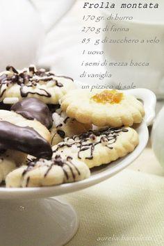 Profumi in cucina: Biscottini di frolla montata
