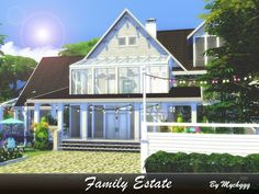 The Sims Resource: Family Estate house by MychQQQ • Sims 4 Downloads