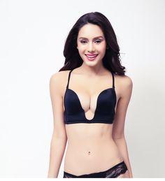 29ed4bfd24e7e Shitagi Intimate Deep Plunge U Women Bra Sexy Seamless Adjustable  Convertible Straps Sutian Push Up Bra