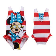 b8e6709b75 Disney Minnie Mouse Swimsuit Bathing Suit Toddler Girl Size 3T by Disney,  http:/