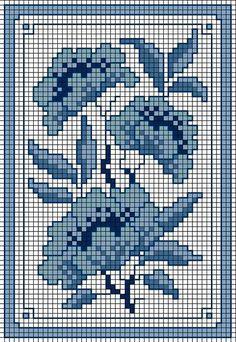 Вышивка по мотивам гжельской росписи Cross Stitch Cards, Cross Stitch Borders, Cross Stitch Flowers, Cross Stitch Designs, Cross Stitching, Cross Stitch Embroidery, Embroidery Patterns, Cross Stitch Patterns, Cross Stitch Geometric