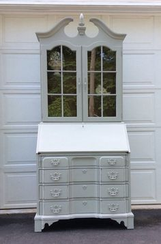 secretary desk french country display cabinet by