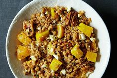 Farro, Golden Beet, and Feta Salad with​ ​Pecans and Chive-Sage Dressing recipe on Food52