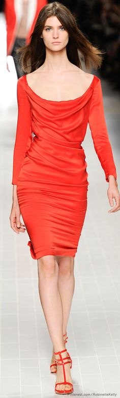 Blumarine   S/S 2014..so happy to see that that lovely tangerine orange color will be still in in 2014!