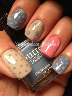 polka dot nail art. Perhaps my next design