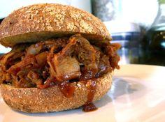 BBQ jackfruit sandwich(with recipe)by The Sexy Vegan.