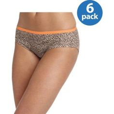 Hanes Women's Cotton Cool Comfort Hipster Panties 6-Pack, Size: 9, Blue