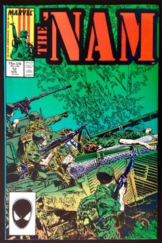THE  NAM #12 NOVEMBER 1987 MARVEL COMICS VIETNAM WAR SERIES NEAR MINT CONDITION