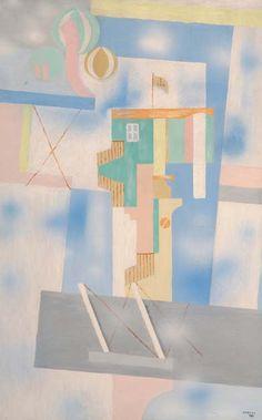 Jindřich Štyrský | Krajina v oblacích, 1925 | olej na plátně, 100,5 × 64,5 cm,