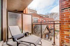 Lofts For Rent, Gas Bbq, West Village, Brick Wall, Outdoor Furniture, Outdoor Decor, Sun Lounger, Balcony, Den