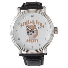 Shiba Inu Mom 2 Dog Art Wrist Watches