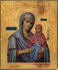 Righteous Anna and the Theotokos /