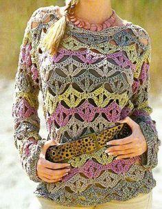 Ivelise Feito à Mão: Blusa Em Crochê