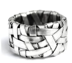 contemporary handmade jewellery, created by designer-maker gurgel-segrillo: woven ring band
