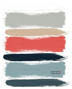 red and gray paint palette