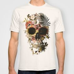 Garden+Skull+Light+T-shirt+by+Ali+GULEC+- e3b7c50381