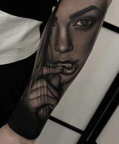 Vrouw tatoo dragon tattoo for men Girl Face Tattoo, Girl Arm Tattoos, Badass Tattoos, Tatoos, Tattoo Girls, Hand Tattoos, Best Sleeve Tattoos, Tattoo Sleeve Designs, Tattoo Designs Men