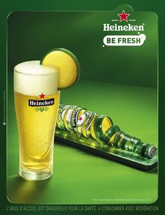 Again, i don't typically like cheap beer ads but in this case Heineken has created a aesthetically pleasing and interesting ad that communicates the clear benefit of their product in a way that made me stop and actually want to dissect what i was looking at.
