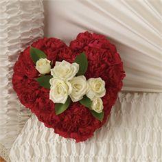 A Devoted Heart Casket Insert flower arrangement #casket #flowers  Walker Funeral Home Cincinnati, OH www.herbwalker.com