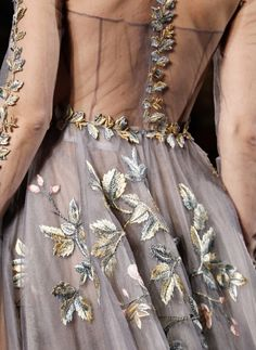 Gorgeous detail shot from Valentino Haute Couture
