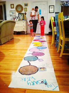 This Rosary Hopscotch activity is so fun! Would you try doing this in your Catholic home? lRosary Hopscotch | Johnson Party of 5